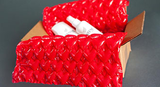Red bubble wrap